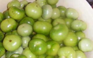 Маринованные зеленые помидоры быстрого приготовления в кастрюле